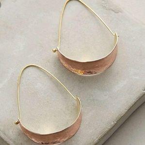 Anthropologie Berna Hoop Earrings